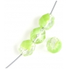 Fire polished 8mm Strung 2-tone Crystal/ Light green